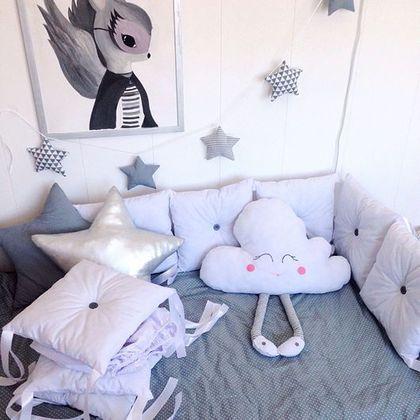 Детская ручной работы. Ярмарка Мастеров - ручная работа. Купить Бортики подушки. Handmade. Бортики в кроватку, холлофайбер