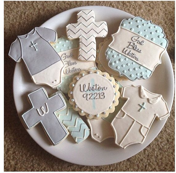 Baptism Cookies / One Dozen by ShopCookieCouture on Etsy, $37.00