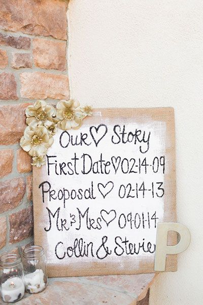 Display all of the must-know details of your big day on one oversized poster.