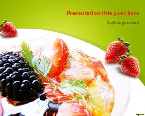 Free Salad Fruit PowerPoint Template | Free Powerpoint Templates