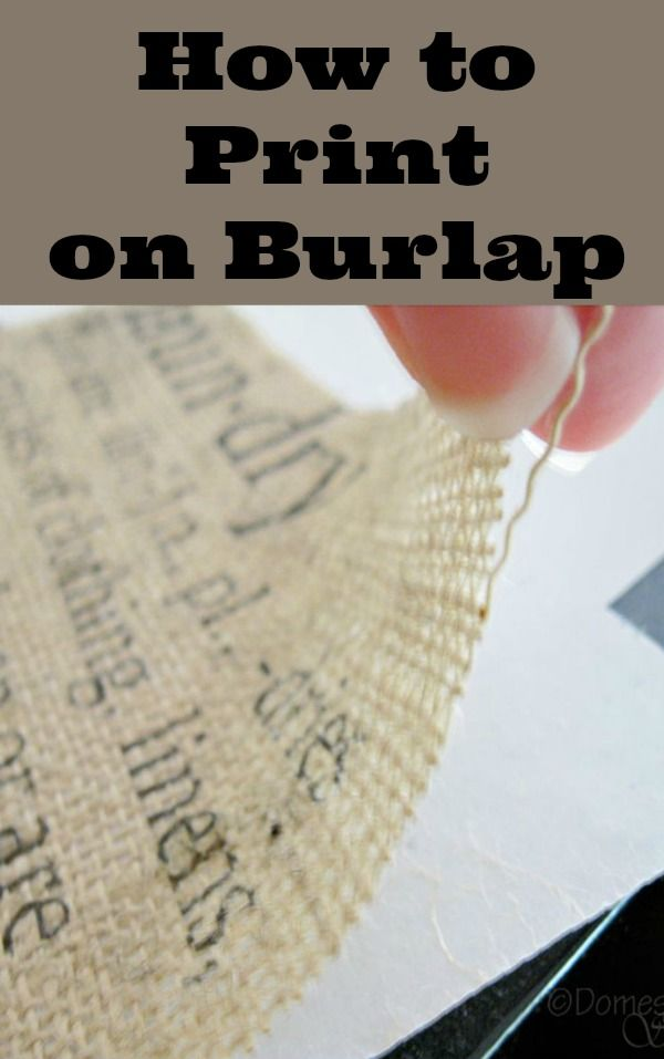 The easy way to print on burlap
