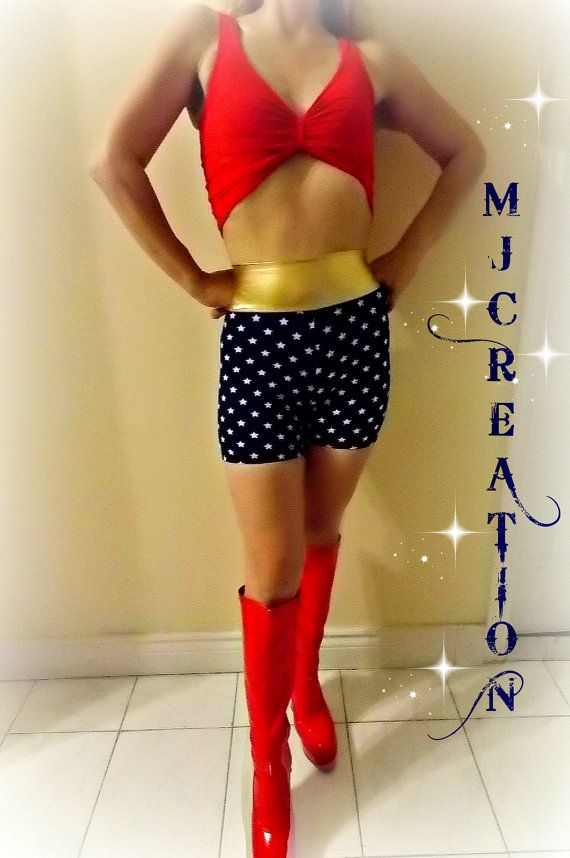 costume 2 pieces wonder super heros inspired  fabric by mjcreation, $68.00