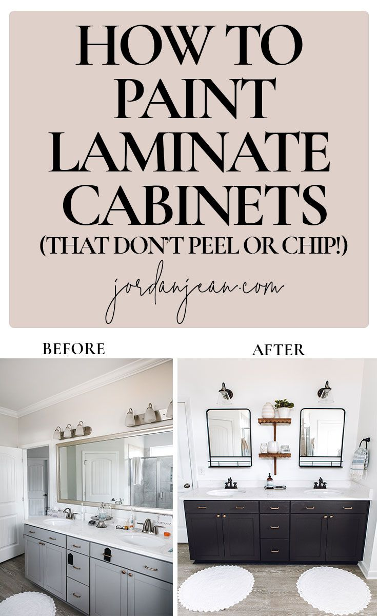 How To Paint Laminate Cabinets In 2020 Laminate Cabinets Painting Laminate Cabinets Laminate Kitchen Cabinets