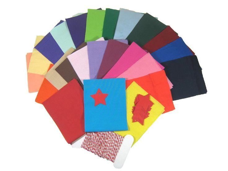 Nähpaket Adventskalender 24 Farben Uni von primatoma auf DaWanda.com