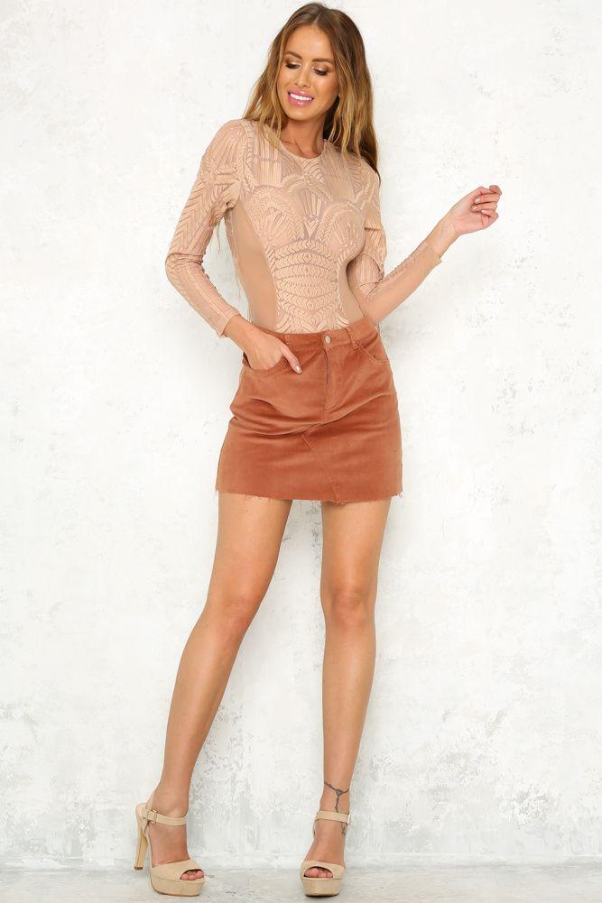 Hello Molly's Posh Spice Skirt Rust - $52