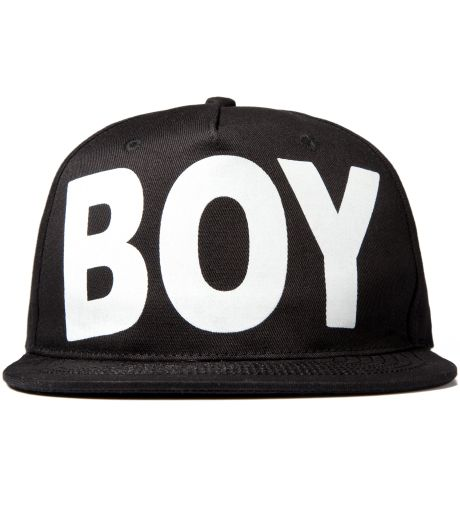 BOY LONDON Black/White Boy London Snapback Cap $50.00