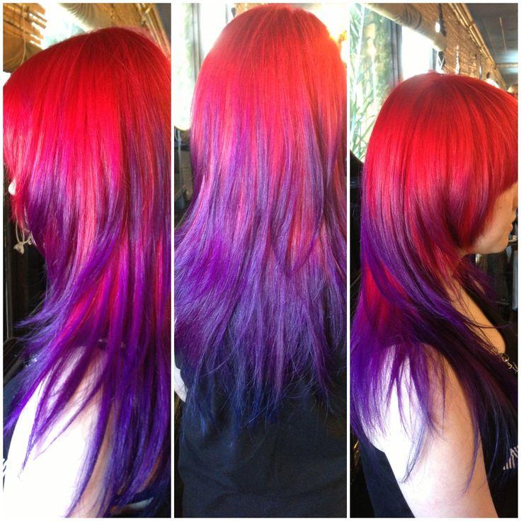 Purple Ombre  Hair Col...