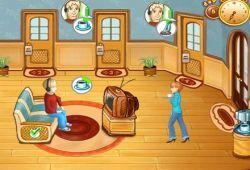 En este juego de recepcionistas de hoteles tienes que atender a todos los huésped que quieran alojarse en su hotel, debes invertir el dinero ganado en comprar mejoras para el hotel. Si tienes un hotel limpio y cuidado, obtendrás grandes beneficios.