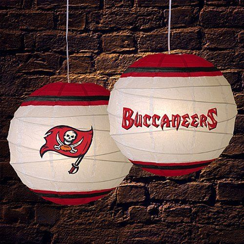 Tampa Bay Buccaneers 18 Inch Rice Paper Lamp NFL Football