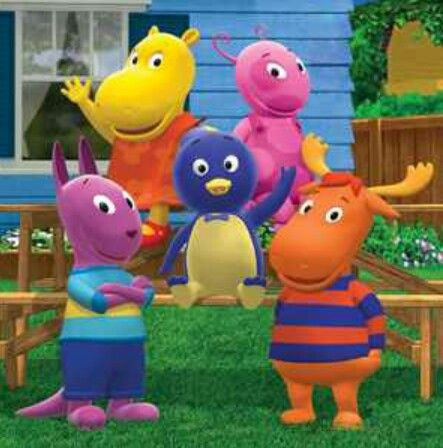 "Childhood Nick Jr. cartoon, ""The Backyardigans""."
