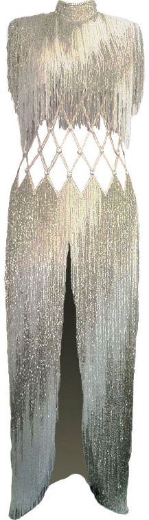 Bob Mackie gown inspired by the fountains in Las Vegas