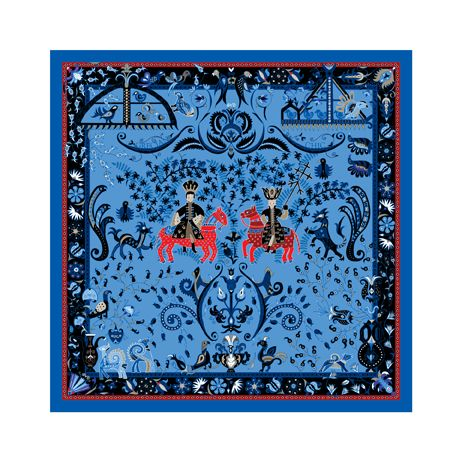 Folklore silk scarf by Grecian Chic. Details of traditional embroidery across Epirus and the Ionian islands give birth to a new grecian legend.