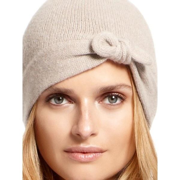DKNY Portolano Cashmere Knot Skull Hat ($65) found on Polyvore
