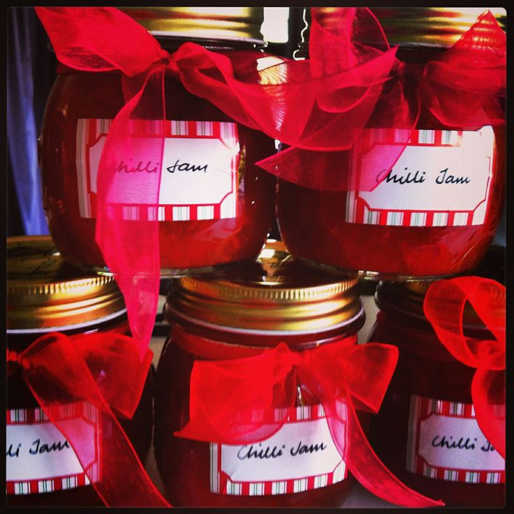 Home made chilli jam for family christmas gifts- nigella Lawson recipe