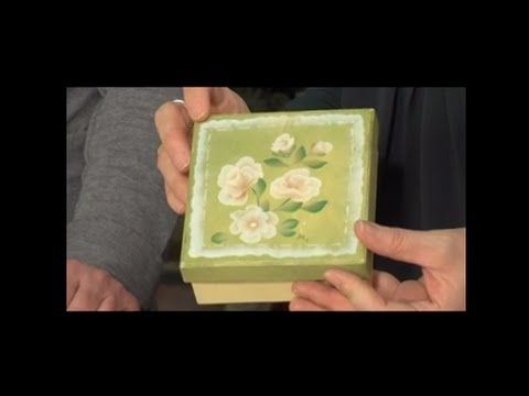 MANI DI LARA - Decorative painting le Rose - YouTube