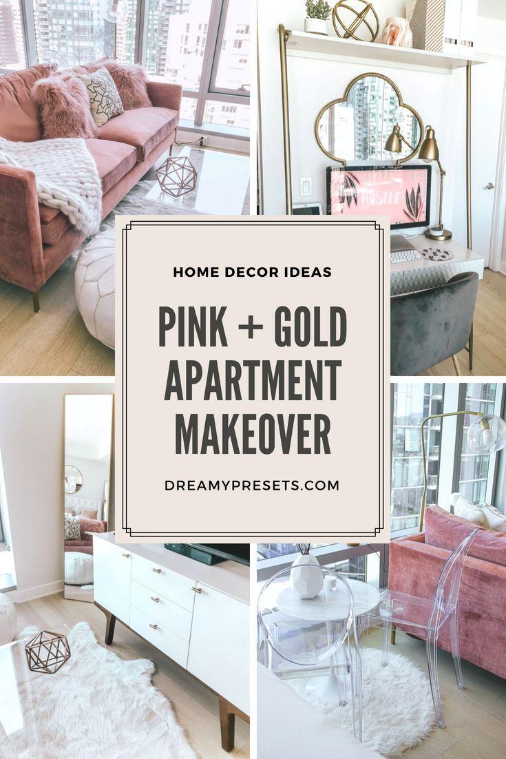 Dreamy Space Jenny Tran S San Francisco Loft Feminine Apartment Decor Feminine Living Room Diy Apartment Decor #pink #and #gold #living #room #ideas