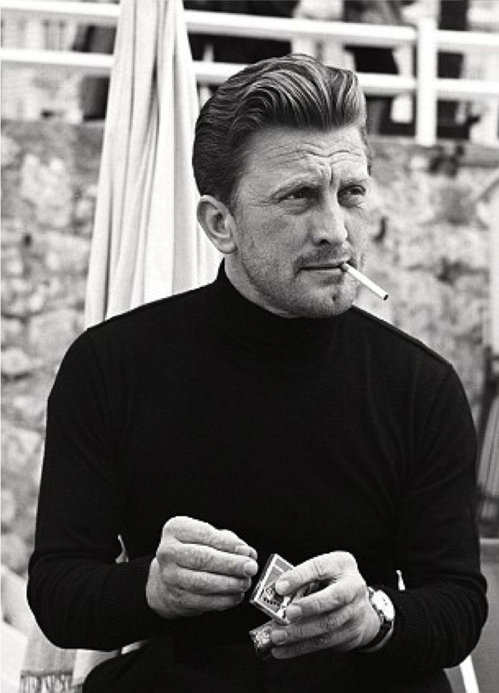 Male elegance. Kirk Douglas at the Cannes Film Festival, 1953