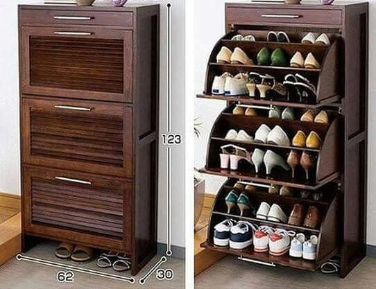 M s de 25 ideas fant sticas sobre organizador de zapatos for Guarda zapatos en madera