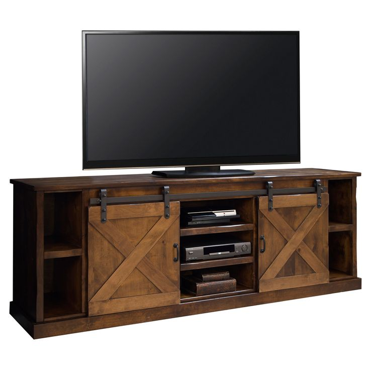 """Legends Furniture Farmhouse 85"""" TV Stand Console Distressed Aged Whiskey FH1415 at Dynamic Home Decor"""