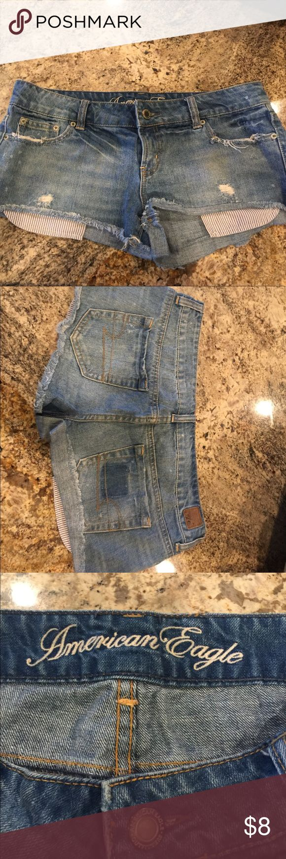 Ladies denim shorts 8 inches long American Eagle Outfitters Shorts Jean Shorts