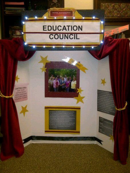 make a board for any project to look like an old theater trifold board presentationschool presentation boardspresentation ideasboys - Tri Fold Display Board Design Ideas