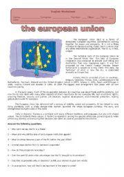 English Worksheets: THE EUROPEAN UNION