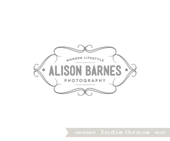 Predesigned / Premade custom logo  Retro Lovely by IndieGrace, $35.00