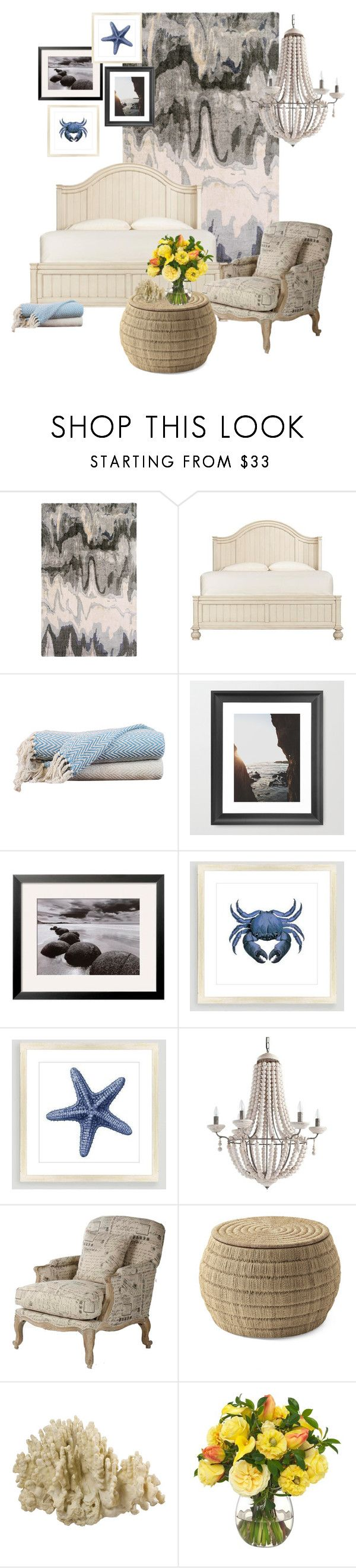 """""""Beachy Interior"""" by johanavigu ❤ liked on Polyvore featuring interior, interiors, interior design, home, home decor, interior decorating, Dot & Bo, Home Decorators Collection, Amrapur and Cost Plus World Market"""
