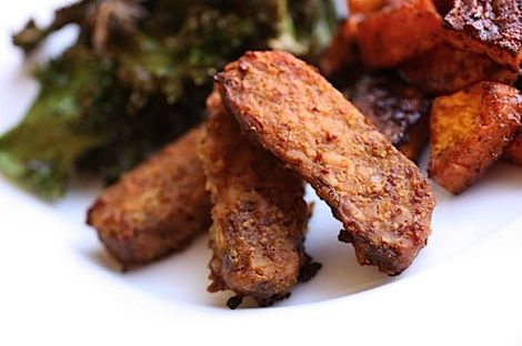 maple dijon baked tempeh from clean food