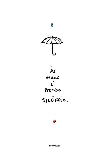 """sometimes we just need silence"" by ...com Lola."