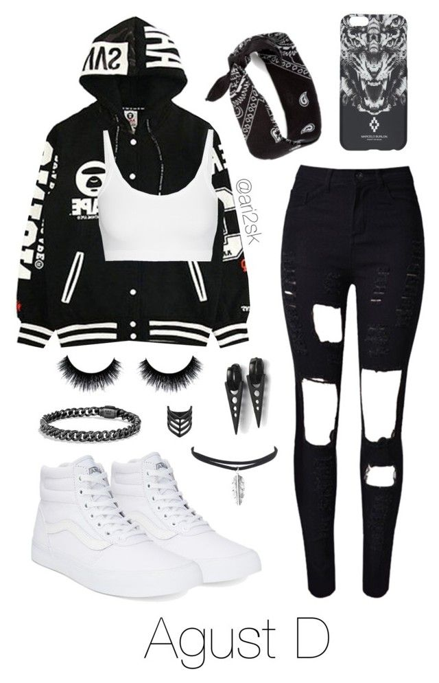 """""""Underground rap concert with Agust D 🎤"""" by ari2sk ❤ liked on Polyvore featuring Helmut Lang, Vans, WithChic, County Of Milan and Topshop"""