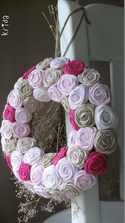 """Rózsakoszorú - """"Puncs-karamell"""", Mindenmás, Baba-mama-gyerek, Otthon, lakberendezés, Dekoráció, Meska"""