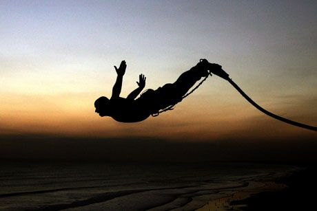 Bungee jumping - I know I would chicken out but as I get older I feel the desire to try beyond myself.
