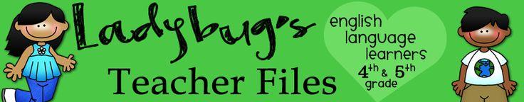 Ladybug's Teacher Files- ELL 4-6: Teaching Idea, Schools Blog, Teacher Tips, Ladybugs Teacher Files, Teacher Blogs, Teaching Blog, Classroom Blog, 5Th Grade, Classroom Ideas