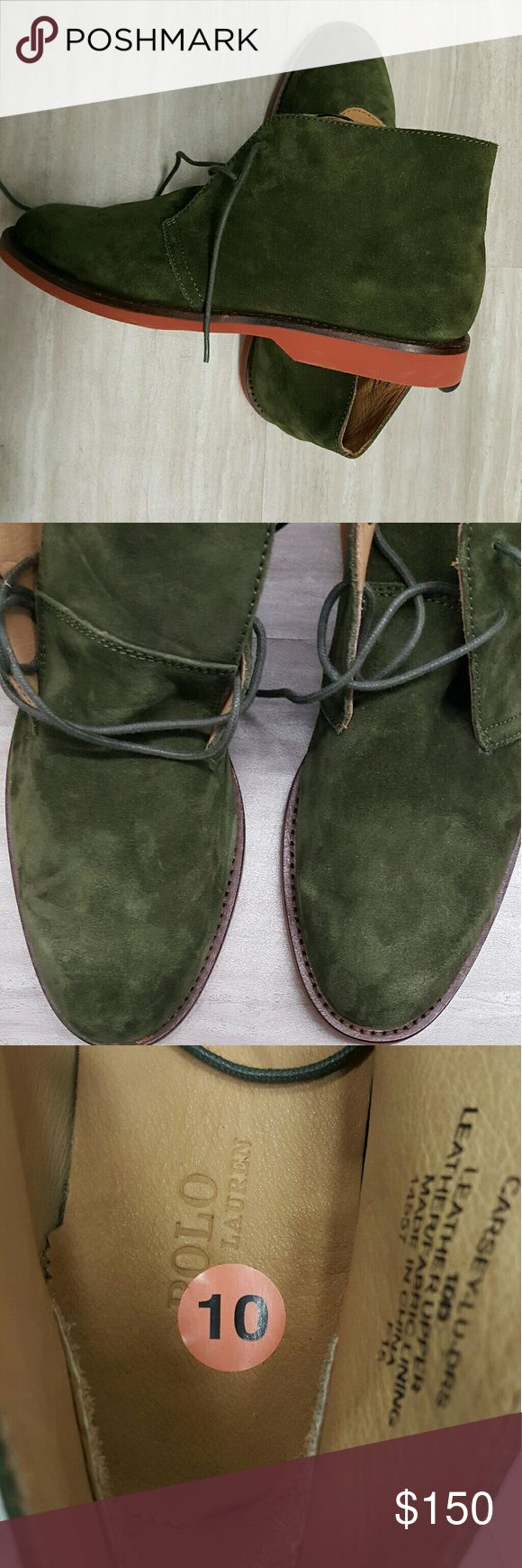 Mens Suede Chukka Polo Boot -New Never Worn Ralph Polo Boot  -Off the rack...no box -Size: 10 Polo by Ralph Lauren Shoes Chukka Boots