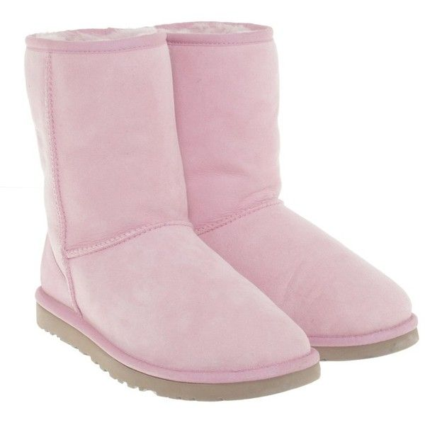 Pre-owned Boots in pink ($175) ❤ liked on Polyvore featuring shoes, boots, pink, ugg footwear, pre owned shoes, pink boots, ugg shoes and pink shoes