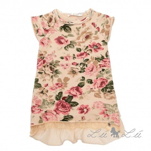 Lù Lù by #missgrant FLEECE DREES WITH FLOWERS FANCY. Sale 50% off Spring&Summer Collection! #discount