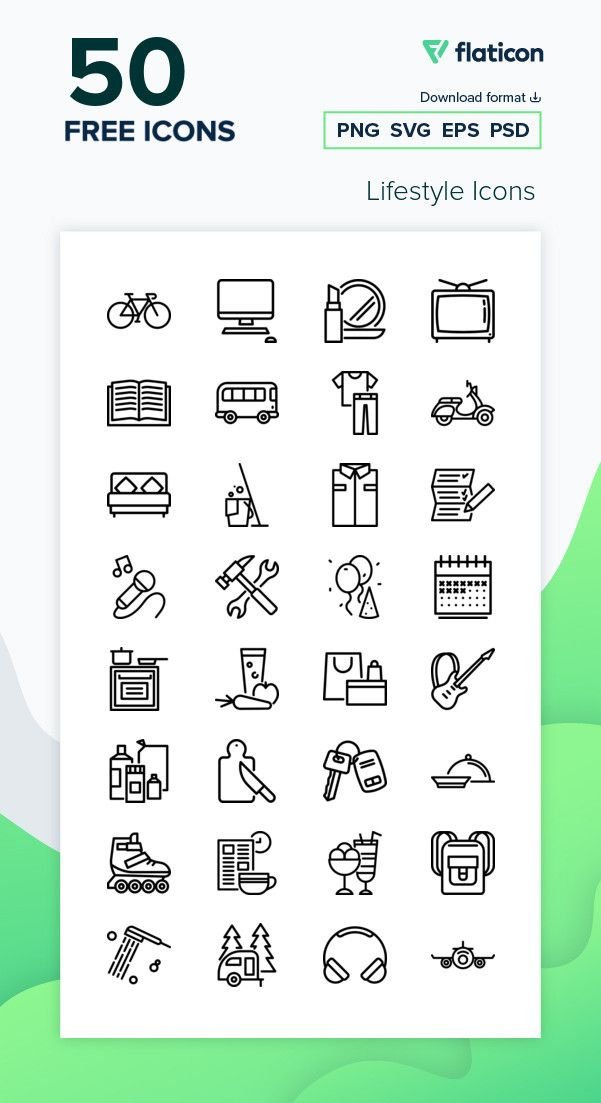 50 Free Vector Icons Of Lifestyle Icons Designed By Freepik Icon Vector Free Vector Icons
