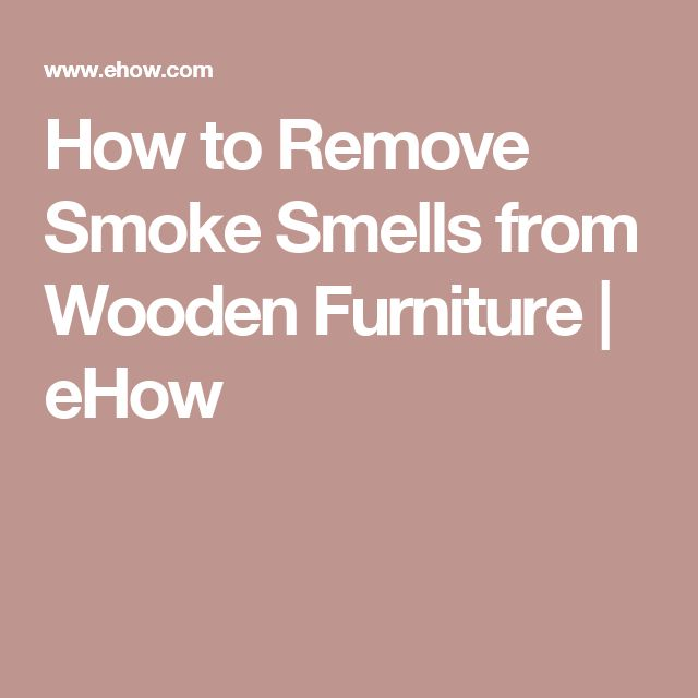 remove smoke smell from furniture