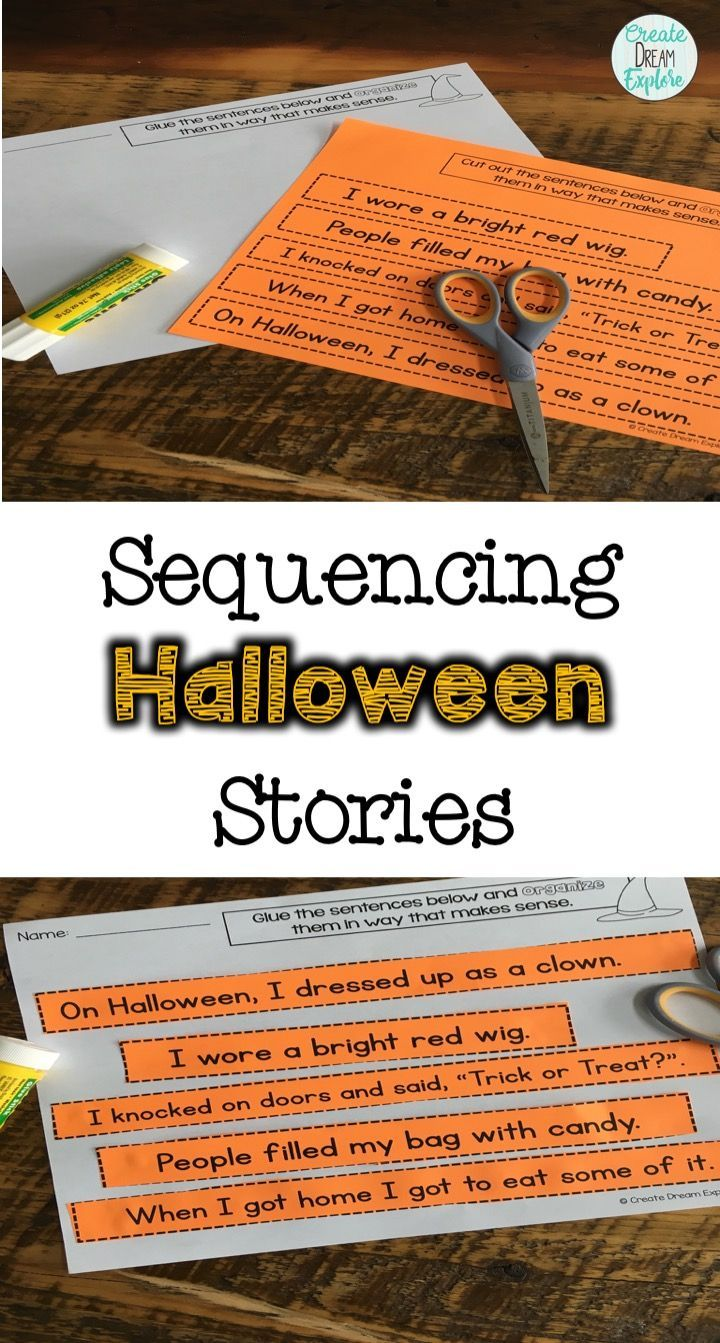 Teaching sequencing will help your students organization skills during writing and will also help with reading comprehension. This is a great literacy based Halloween activity to practice sequencing skills.