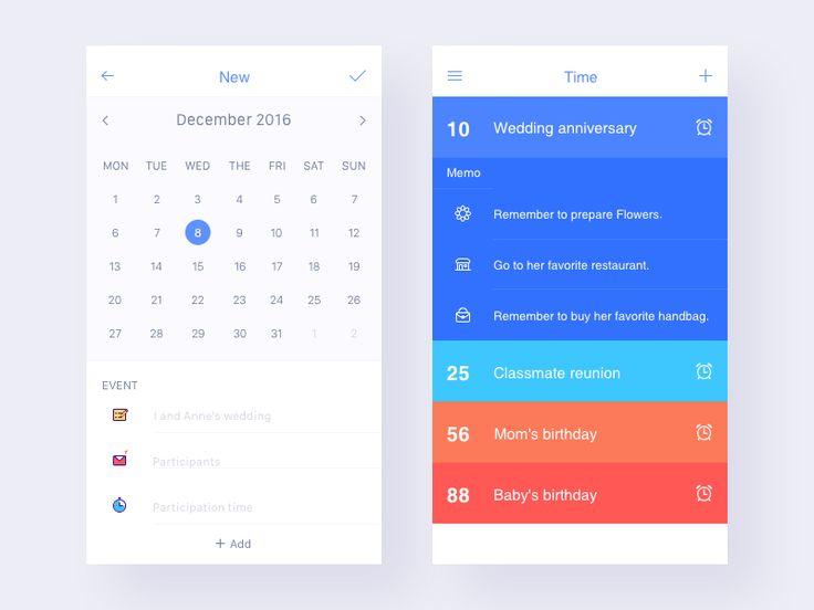 Calendar App Ui : Best mobile ui calendar images on pinterest
