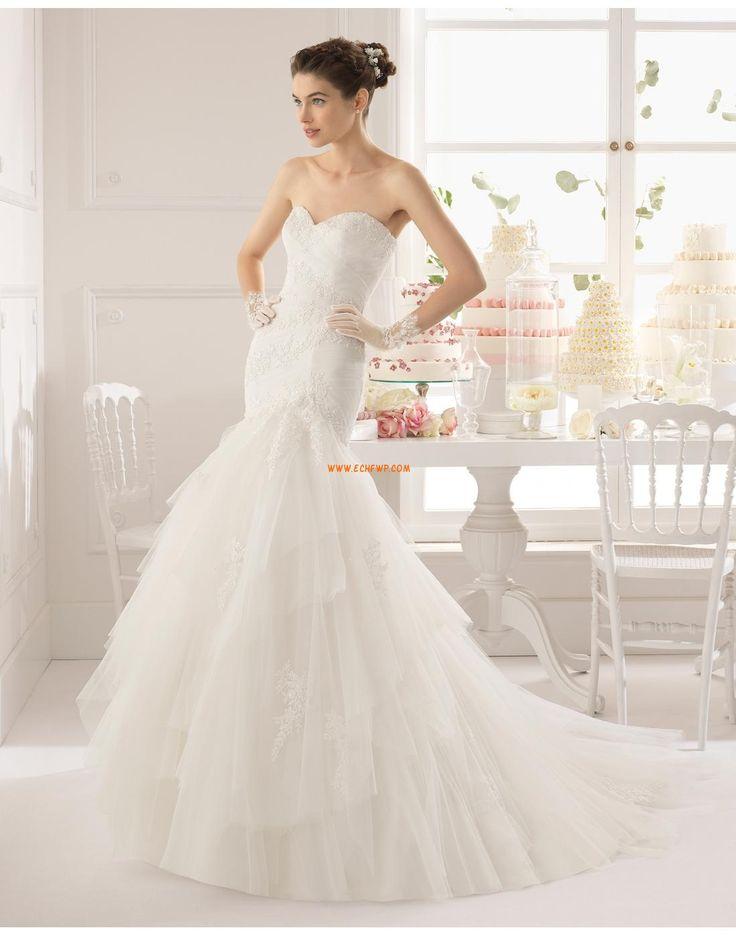 Délka dvorní Krajkový vzhled Výstřih do U Svatební šaty 2015