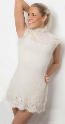 Платье из мохера спицами