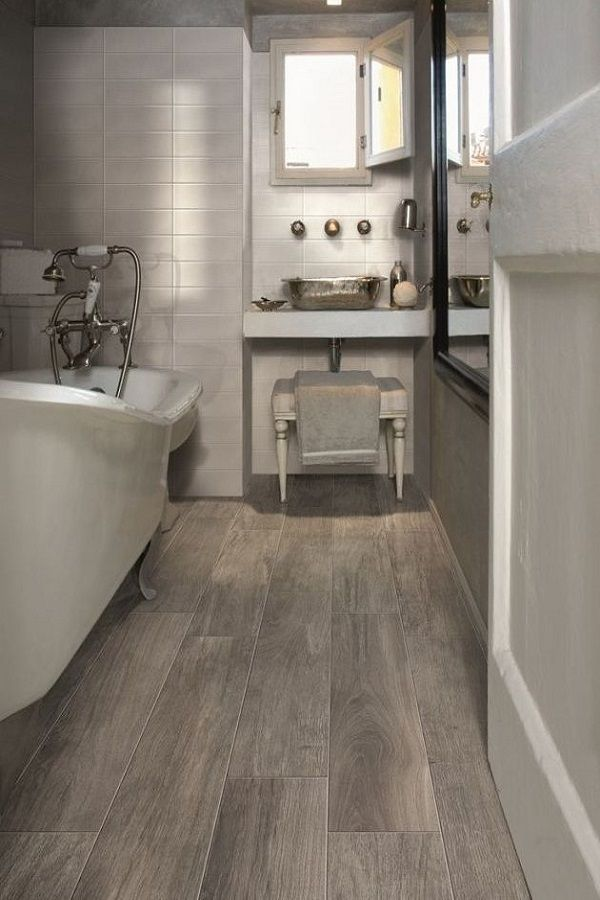 18 Wonderful Small Bathroom Floor Tile Design Ideas To Inspire You In 2020 Diy Kitchen Flooring Wood Tile Bathroom Tile Floor Diy