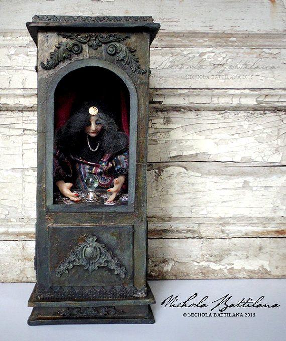 The Fortune Teller  Miniature Handmade Gypsy by PixieHillStudio