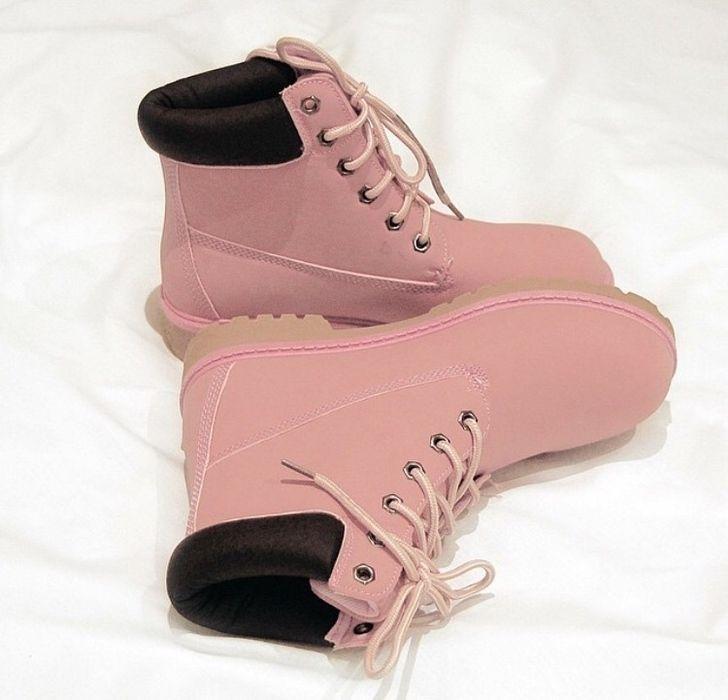 4969bfaec7de Light pastel pink timberland styled boots | Wardrobe | Timberland ...