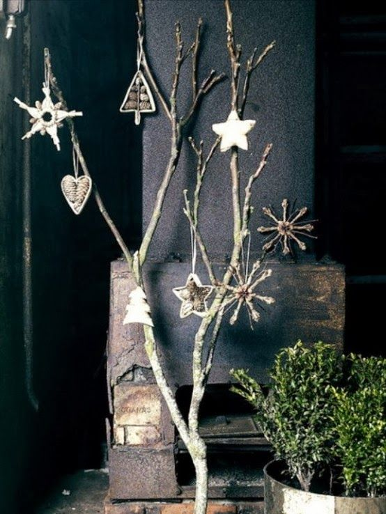 Decorating for Christmas with branches | My desired home