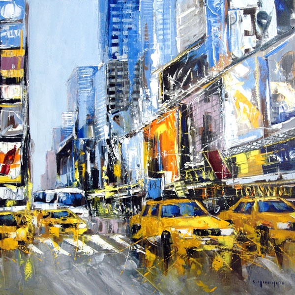 New York Taxi Street City Canvas Wall Art Picture Print Va: 103 Best Images About Artistic Cabs On Pinterest
