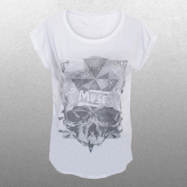 Ladies Washed Out Skull T-Shirt