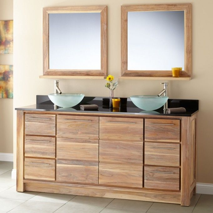 72 Madison Double Vessel Sink Vanity: Teak, Vessel Sink Vanity And Vanities